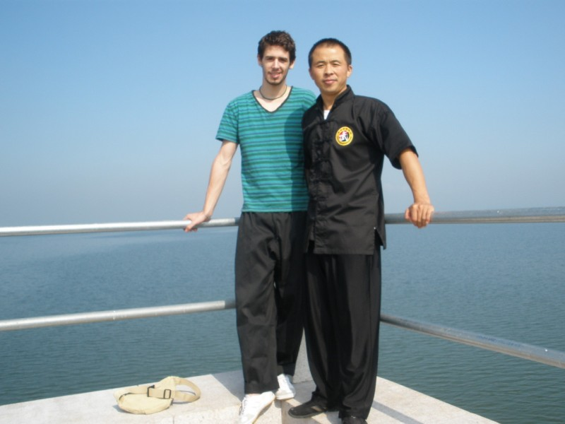 After training kungfu Max and Renqiang at Laixi lake